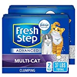 Fresh Step Advanced Multi-Cat Clumping Cat Litter with Odor Control - 37 lb (Package May Vary)